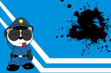 panda bear cop cartoon background4