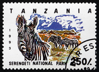 Postage stamp Tanzania 1993 Serengeti National Park