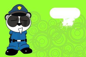 panda bear cop cartoon background3