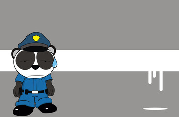 panda bear cop cartoon background2