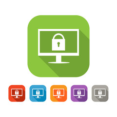Color set of flat web safety icon