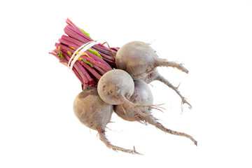 A bunch of beetroots isolated