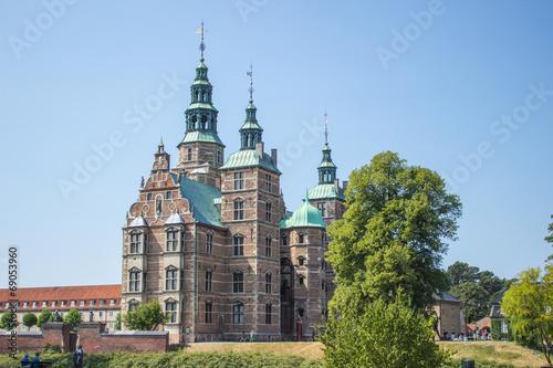 Leinwanddruck Bild Kongens Have Rosenborg Slot  (Königsgarten Schloss Rosenborg) Kø