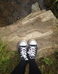 standing on wood