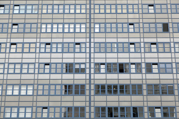 Fassade eines modernen Wohngebäudes in Berlin,Deutschland