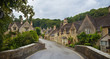 Leinwandbild Motiv Castle Combe, unique old English village and luxury golf club