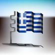 Obrazy na płótnie, fototapety, zdjęcia, fotoobrazy drukowane : Flag of Greece