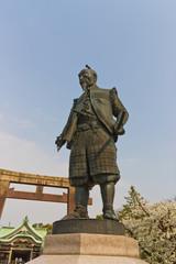 Toyotomi Hideyoshi  statue in Osaka, Japan