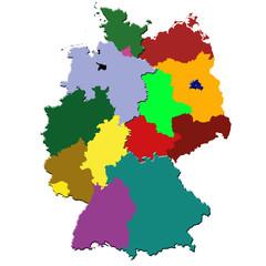 Alte deutsche Bundesländer