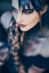 Beautiful, romantic gothic styled woman