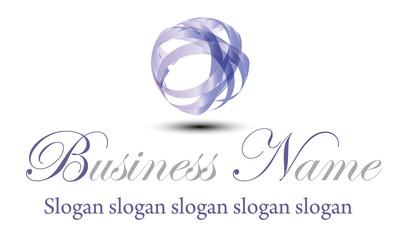 Logo ruban mauve brillant