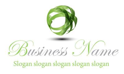 Logo ruban vert brillant
