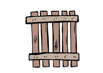 doodle old wooden fence
