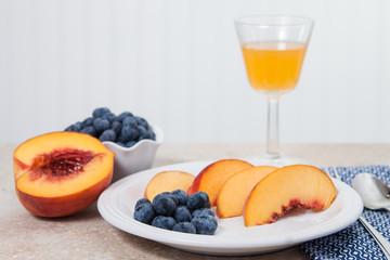 Fresh fruit with juice