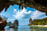 Fototapety Paradise in Railay beach Thailand