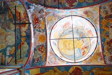 Church of Saint Nicolas in Yaroslavl, Russia. Interior.