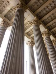 Säulen am Parlament in Wien