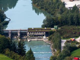 Wasserkraftwerk an der Salzach