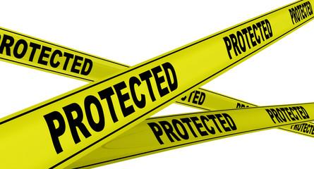 Защищённый (protected). Желтая оградительная лента