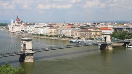 Chain Bridge Secheni. Budapest, Hungary
