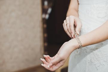 Bracelet on a hand.
