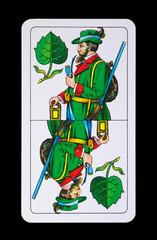 Spielkarte - Ober Grün