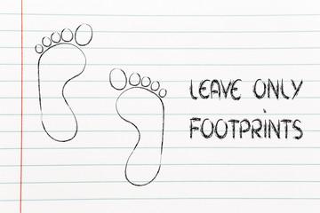 ecological footprint, ecotourism and environmental awareness