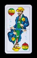 Spielkarte - Ober Schellen