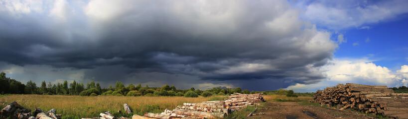 Thundercloud, Novgorod region, Russia