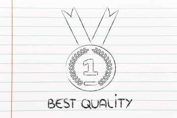 best quality, gold medal symbol