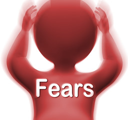Fears Man Means Worries Anxieties And Concerns
