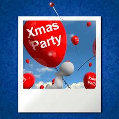 Xmas Party Balloons Photo Show Christmas Celebration and  Festiv