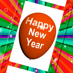 Happy New Year Balloon Shows Parties and Celebrations