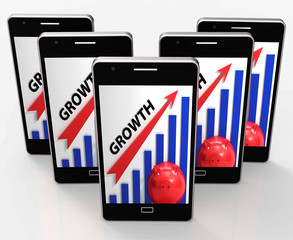 Growth Graph Means Financial Increase Or Gain