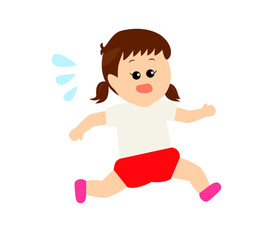 A little girl running, exercise, athlete image