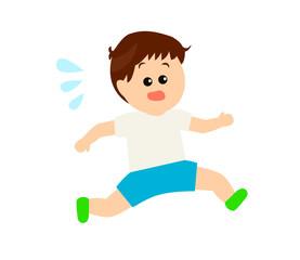 A little boy running, exercise, athlete image