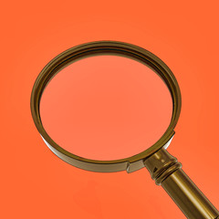 Magnifying Glass Shows Zoom Or Searches