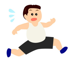 A middle aged man running, exercise, diet image