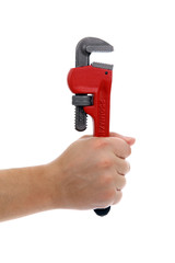 Holding a wrench with one hand