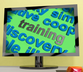 Training Word Screen Shows Education Apprenticeship Or Up skilli