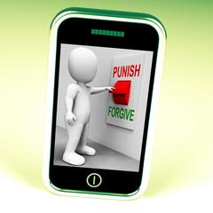 Punish Forgive Switch Shows Punishment or Forgiveness