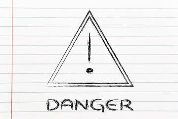 danger road sign design