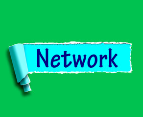 Network Word Means Online Connections And Contacts