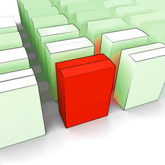 Blank Box Copy space Means Stand Out Leader Or Individual