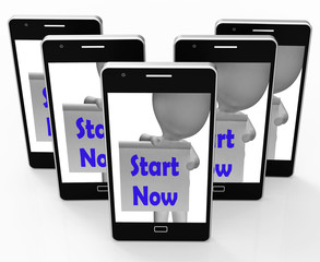 Start Now Phone Shows Begin Or Do Immediately