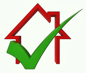 Home With Check Shows House  For Sale And Loan Approved