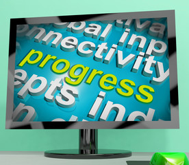 Progress Word Cloud Means Maturity Growth  And Improvement