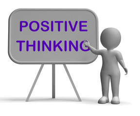 Positive Thinking Whiteboard Means Optimism Hopefulness Or Good