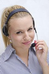 Amazing blonde call center
