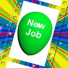 New Job Balloon Shows New Beginnings in Career